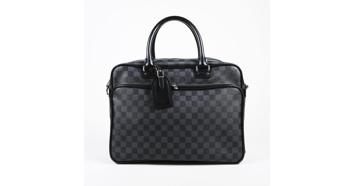 Lyst Louis Vuitton Mens Gray Black Damier Graphire Canvas Icare Computer Bag In For Men