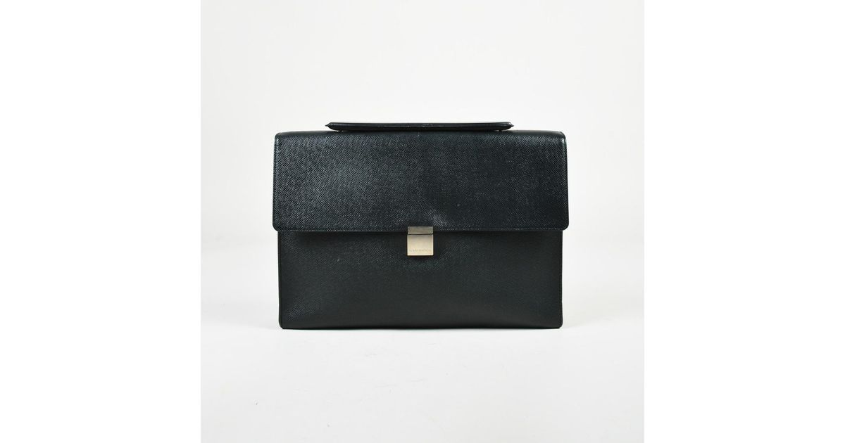 07fe250d019d Louis Vuitton Black Taiga Leather Porte-document Angara Briefcase in Black  for Men - Lyst