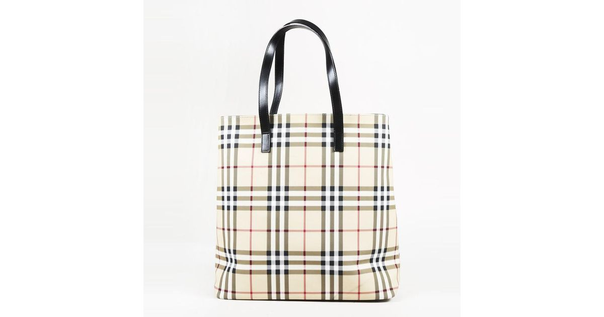 e5369cf01ab4 Lyst - Burberry Multicolor Coated Canvas   Leather