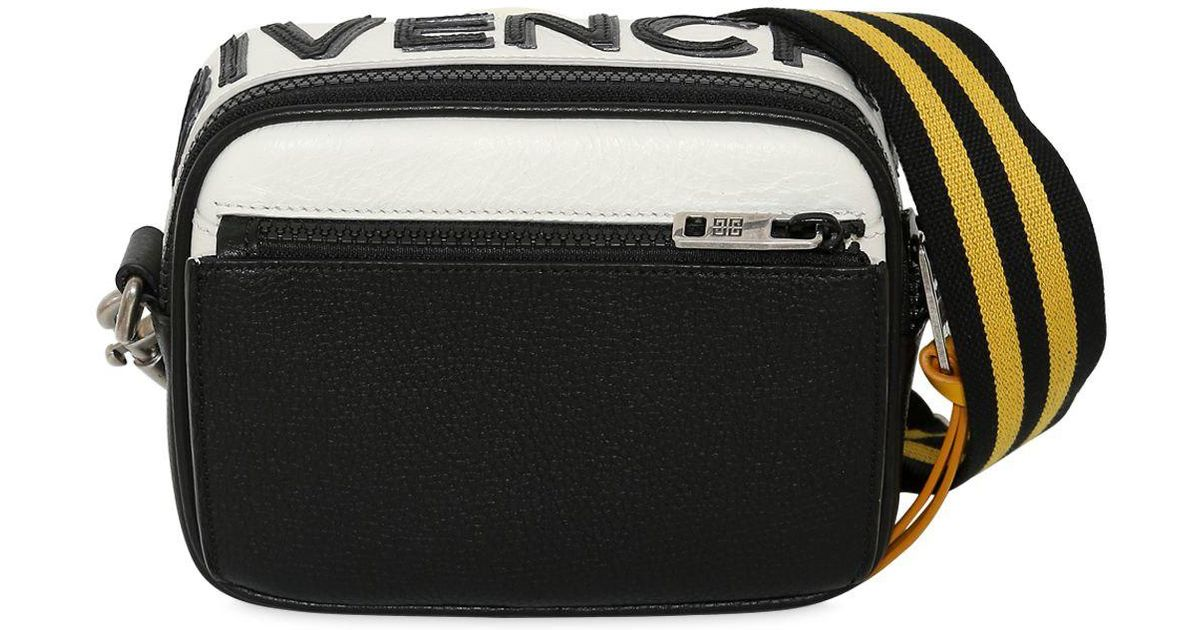 Lyst - Givenchy Reversible Logo Leather Crossbody Bag in Black for Men f14ab87f99