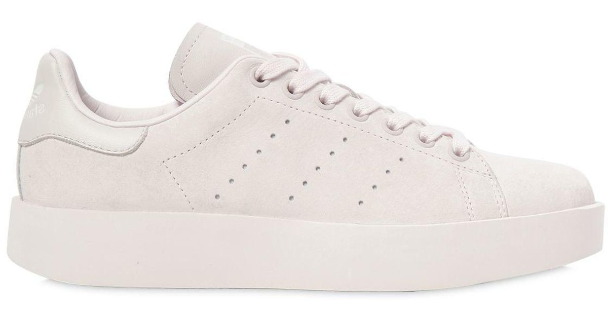 51f9bdd24269 adidas Originals Stan Smith Bold Leather Sneakers in Pink - Lyst