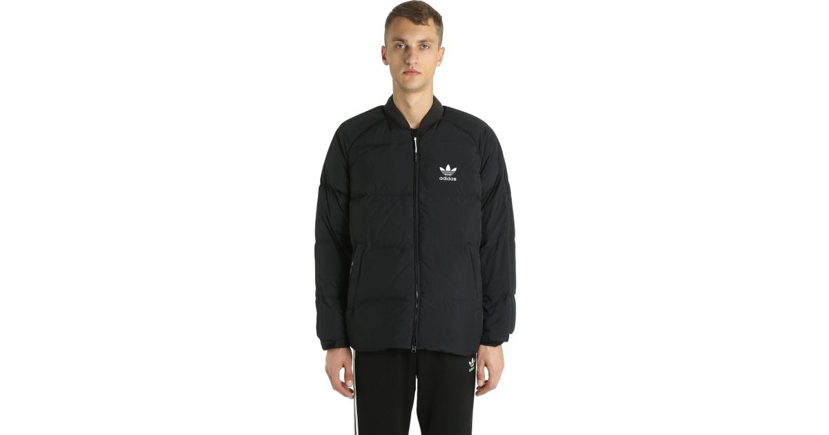 66c86acd9 Lyst - adidas Originals Sst Logo Padded Bomber Jacket in Black for Men