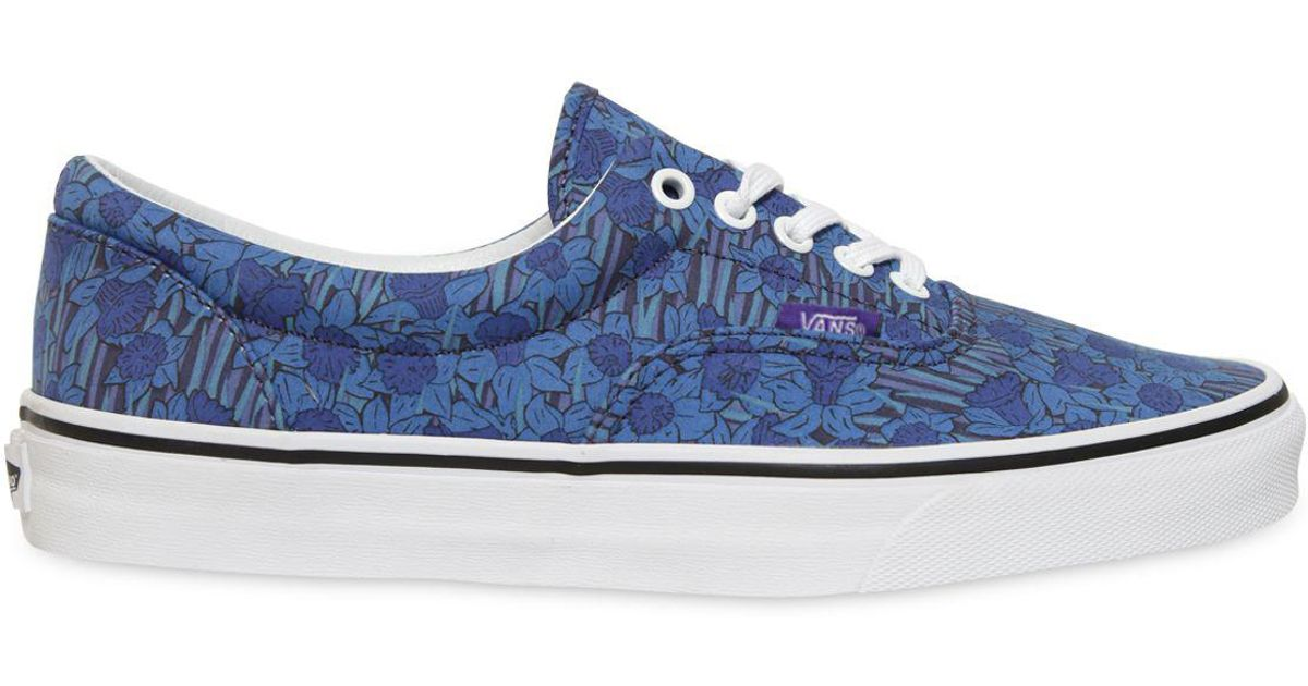 a1c1930041 Vans Era Floral Printed Cotton Sneakers in Blue for Men - Lyst