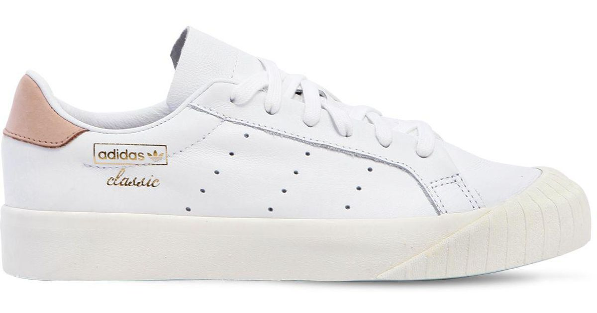 White Pelle Sneakers Adidas Lyst Originals In Everyn cWqARCnRf