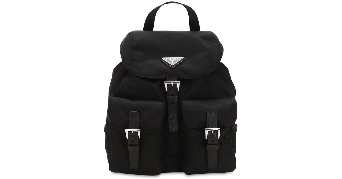 b139bc029c7d8c ... spain prada black mini nylon backpack lyst 49a71 fe944