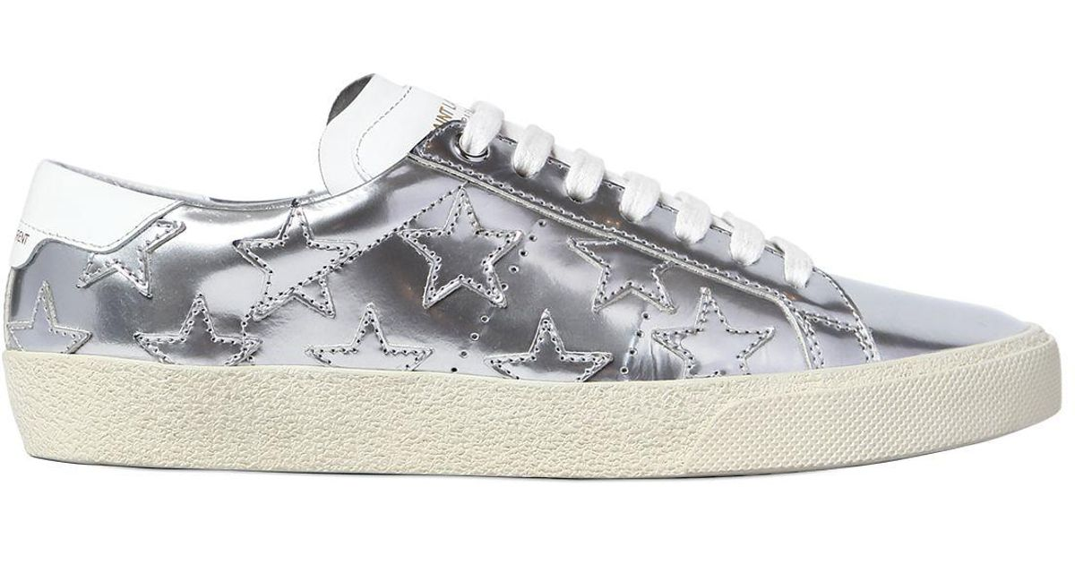 Saint Laurent 20MM COURT CLASSIC STAR LEATHER SNEAKERS Cheap New Styles aGcHXI0o2