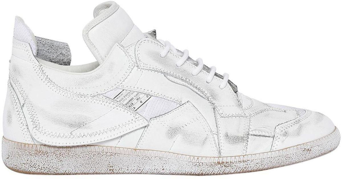 Lyst Maison Margiela Recycled Patchwork Leather Sneakers In White For Men