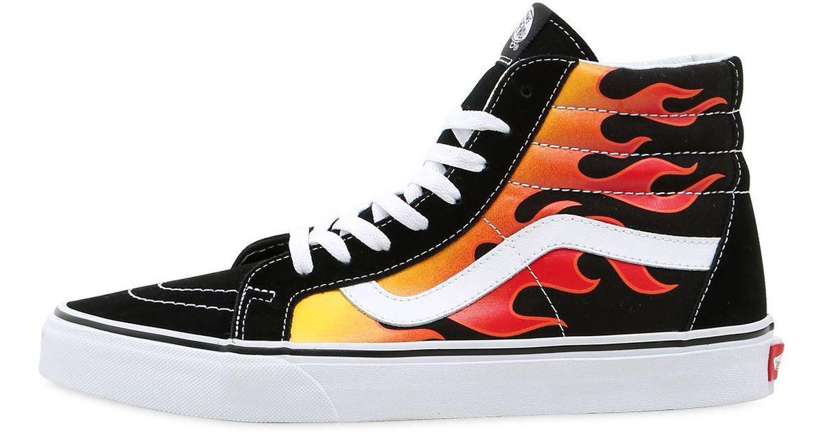 98da0129da8 Vans Flame Sk8-hi High Top Sneakers in Black for Men - Lyst
