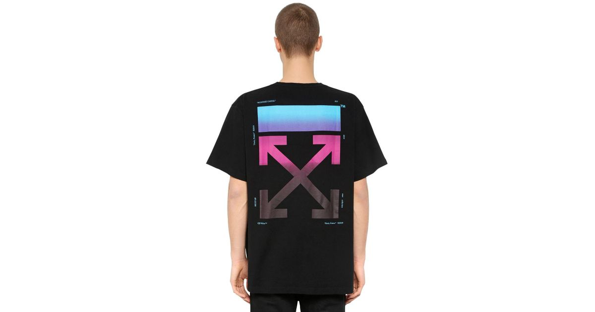 a967554a Off-White c/o Virgil Abloh Oversized Gradient Arrows Jersey T-shirt in  Black for Men - Lyst