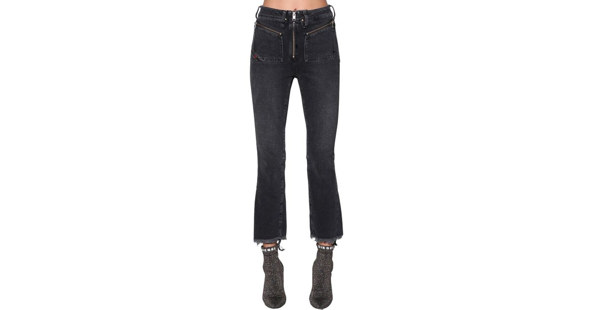 4c3a642c6a1 DIESEL Earlie High Rise Cropped Denim Jeans in Blue - Lyst