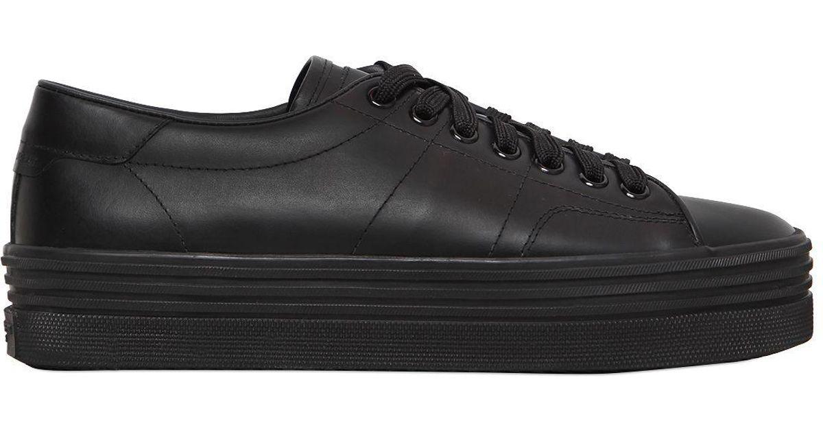 ff5e0489accc9 Lyst - Saint Laurent 40mm Court Classic Platform Sneakers in Black