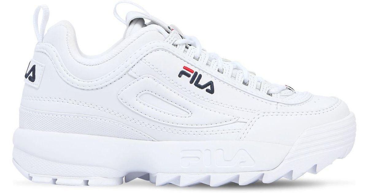 0732956e767 Lyst - Fila Disruptor Faux Leather Platform Sneakers in White