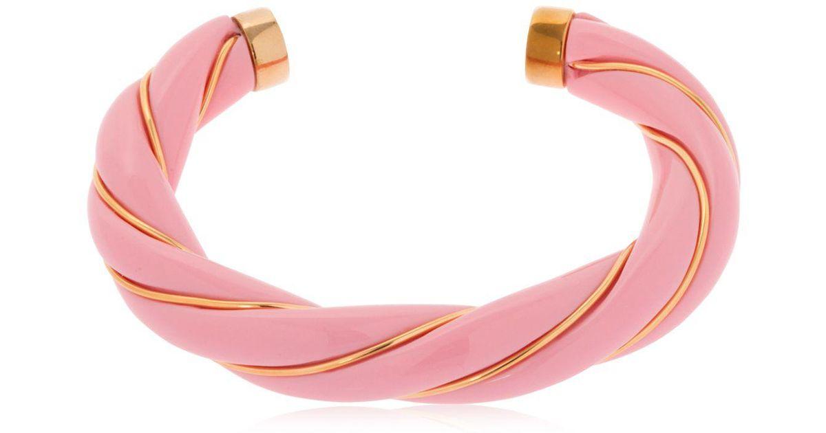 Diana Twisted Bracelet in Pink 18K Gold-Plated Brass Aur VHLdtUt