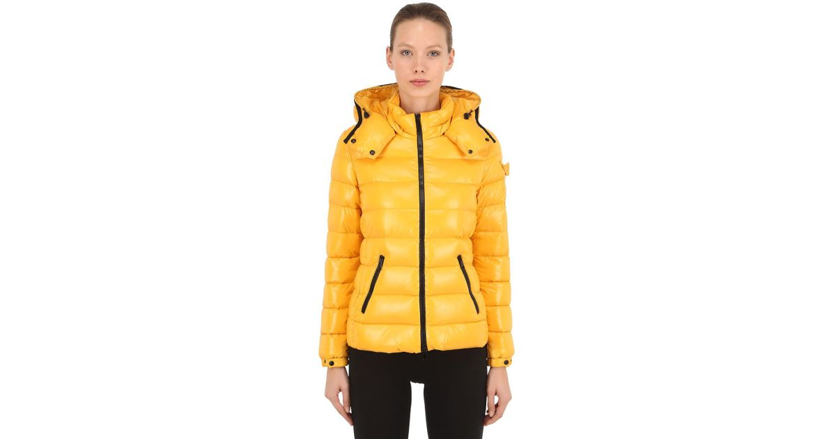 0aa440769 Lyst - Moncler Bady Laqué Nylon Down Jacket in Yellow