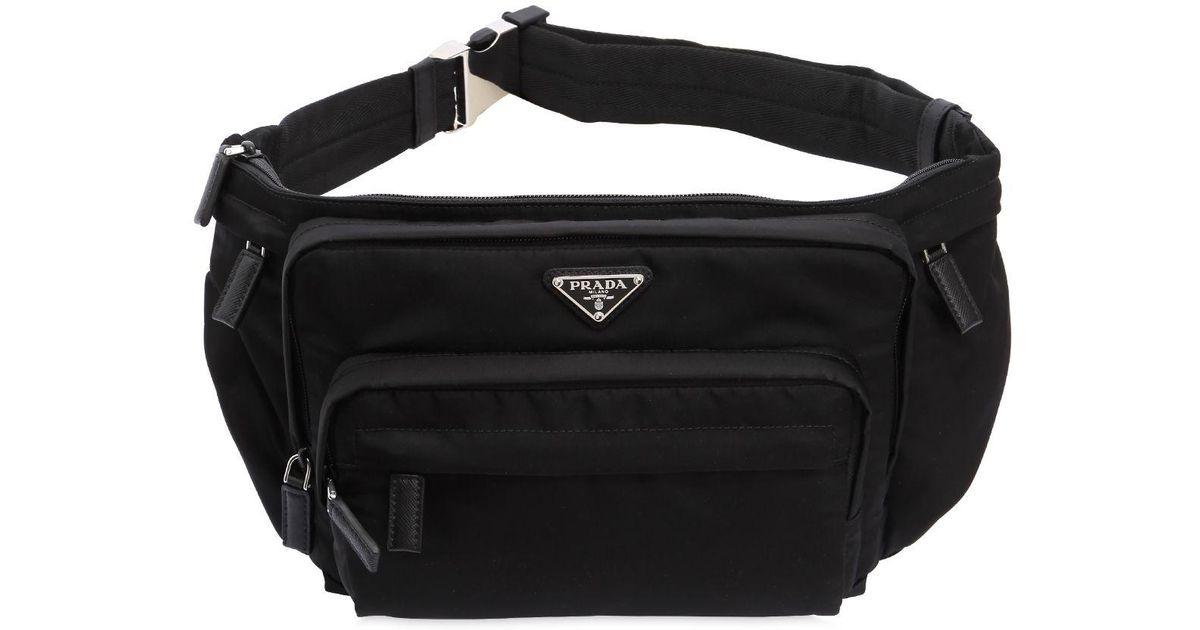 82dc764853e1 Lyst - Prada Nylon Belt Pack in Black