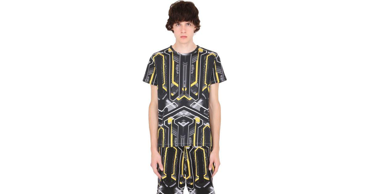 John richmond david bowie print cotton jersey t shirt in for Richmond t shirt printing
