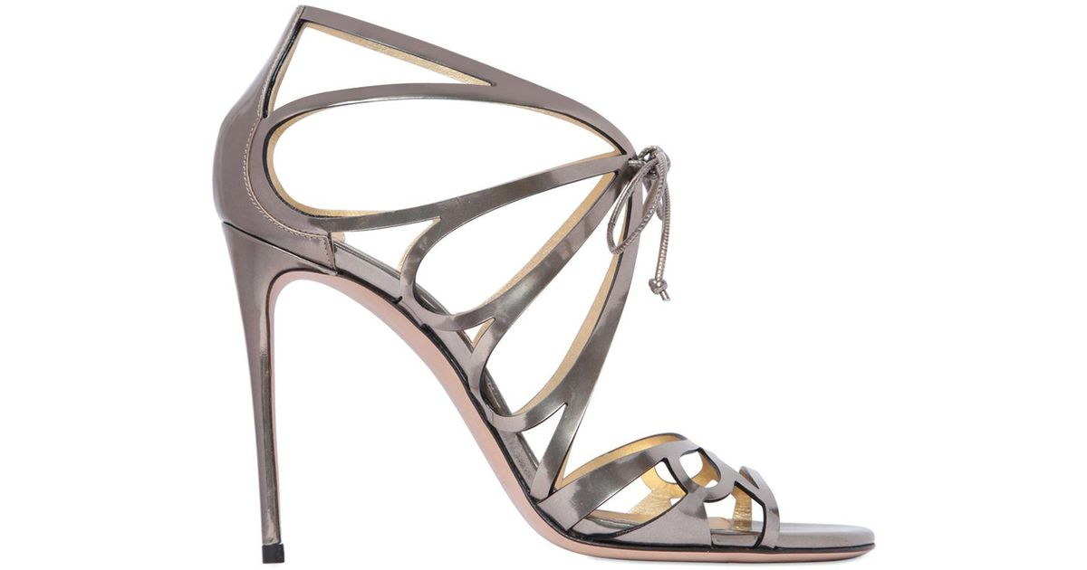 Sandals 100mm Dragonfly Metallic Leather Casadei 5qAjL34R