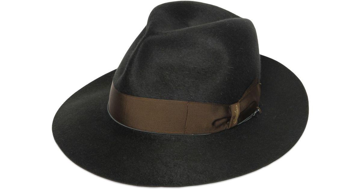 d2ce575907263 Borsalino Anello Gazzella Long Fur Felt Hat in Green for Men - Lyst