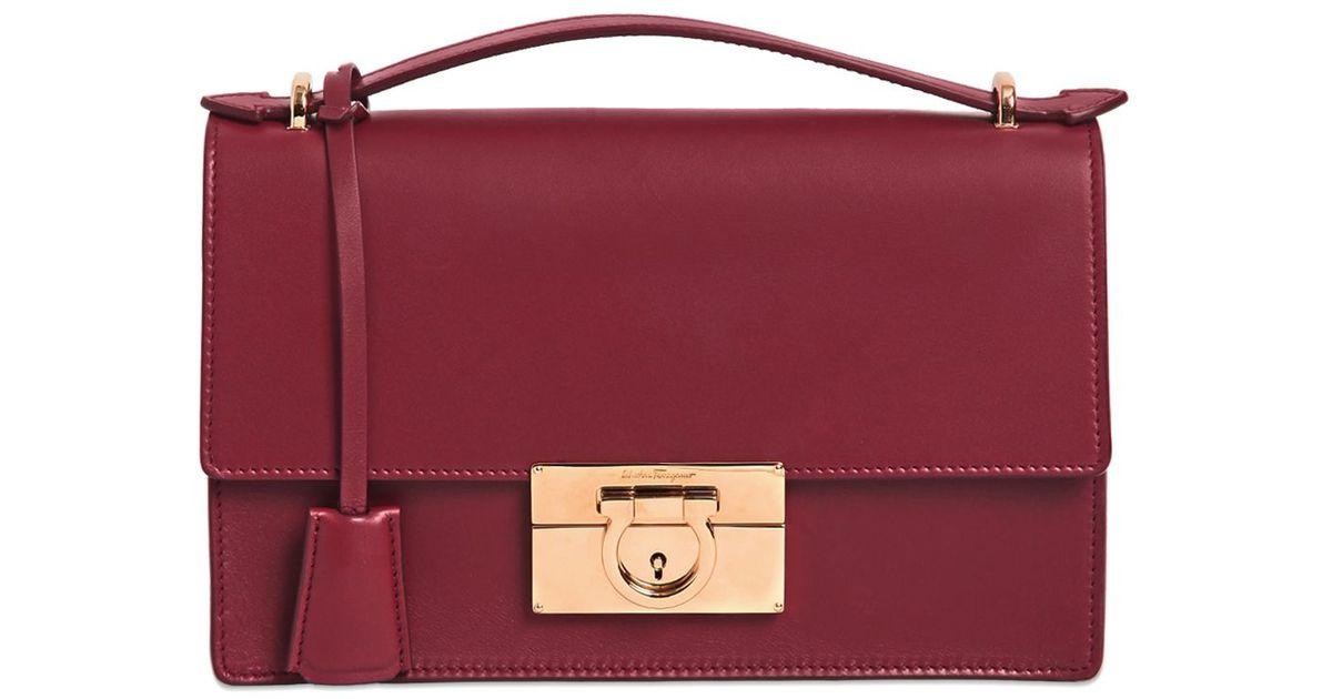 9856df025317 Lyst - Ferragamo Aileen Brushed Leather Shoulder Bag