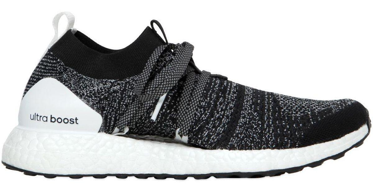 a7f34f15a3f4a Lyst - adidas By Stella McCartney Ultra Boost X Primeknit Running Sneakers  in Black