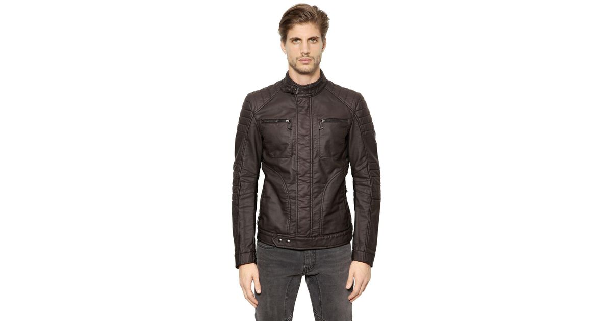 belstaff new weybridge rubberized cotton jacket in black. Black Bedroom Furniture Sets. Home Design Ideas