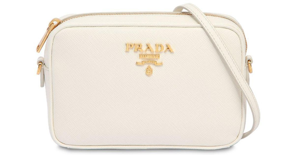2be63f879813a0 ... new zealand lyst prada saffiano leather camera bag in white a6d20 b3afb