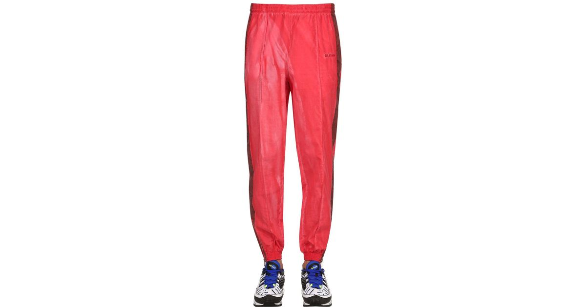 c4ad34e371b126 Guess Sean Wotherspoon Side Bands Track Pants in Red for Men - Lyst
