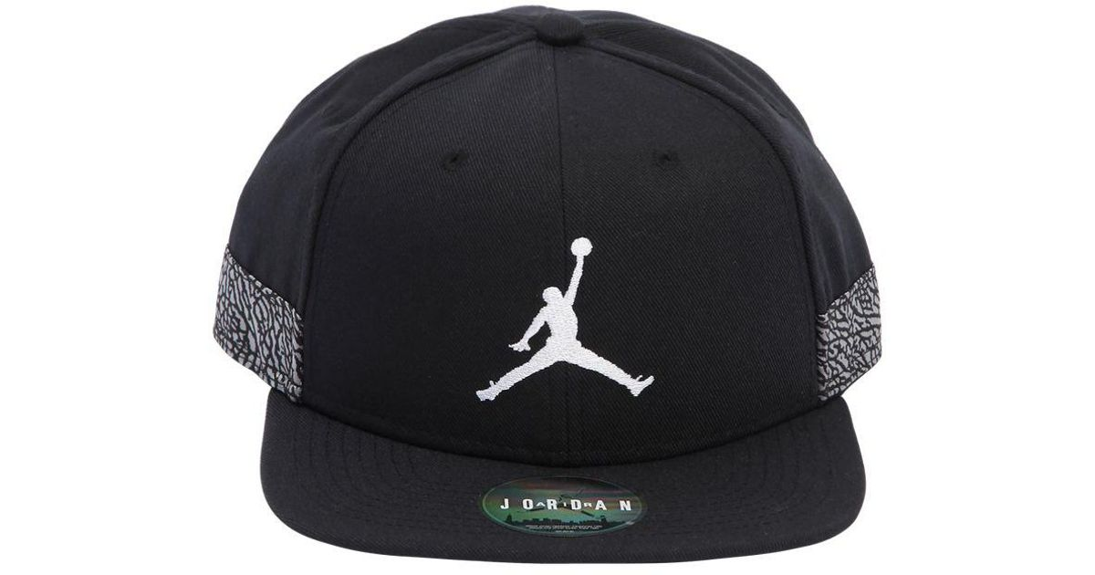 b972eaf132b Nike Air Jordan Jumpman Pro Aj 3 Hat in Black for Men - Lyst
