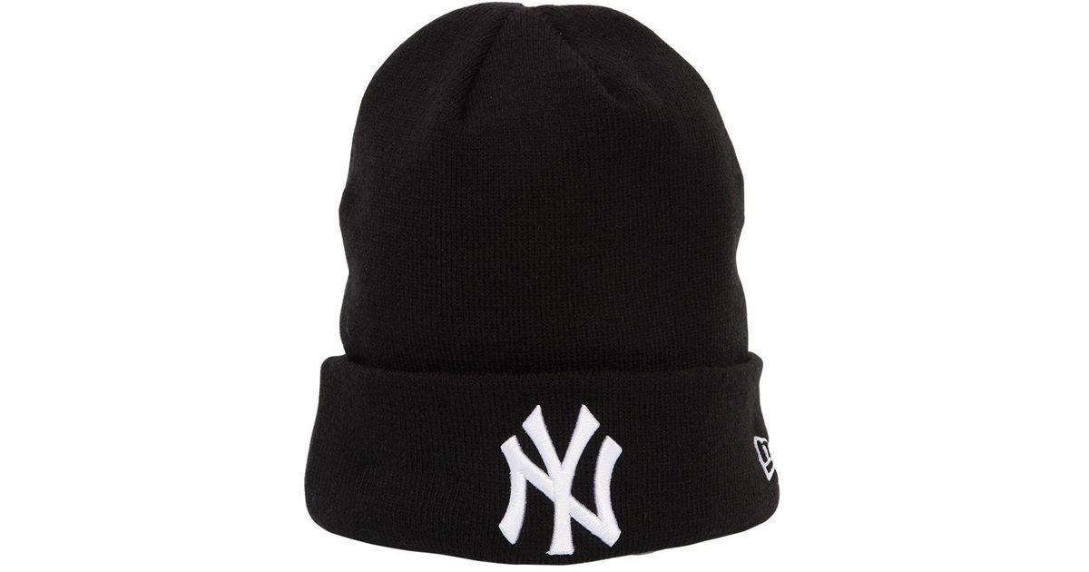 ... latest design f6825 b6da8 Ktz League Essential Ny Yankees Beanie Hat in  Black - Lyst ... 2be952ee1b7e
