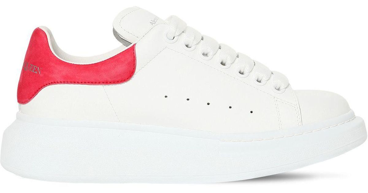 Alexander McQueen - White 40mm Leather & Suede Sneakers - Lyst