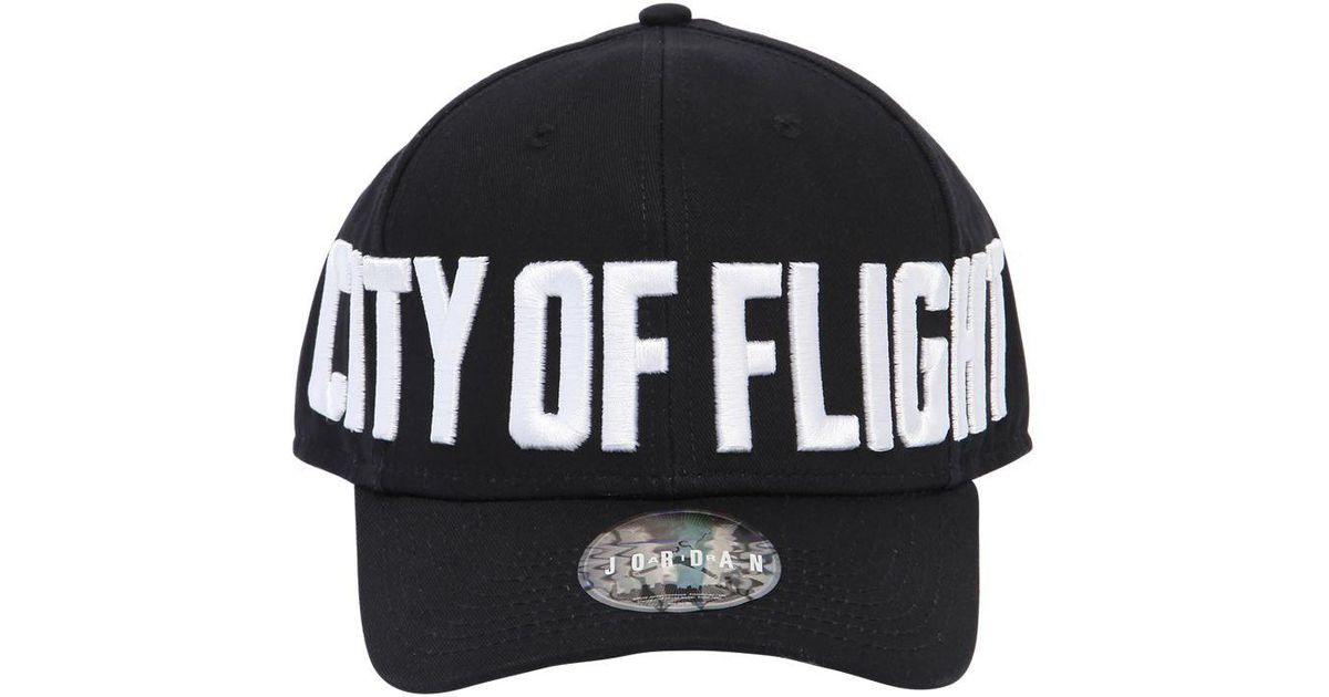 2f98a551a48 Lyst - Nike Jordan Classic 99 City Of Flight Hat in Black - Save 38%