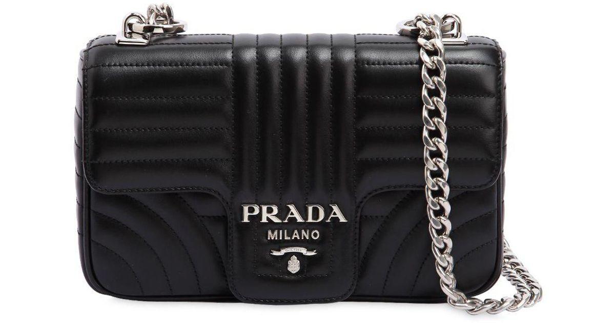 6583ea7727e3 get prada saffiano leather continental wallet black ed775 f498a; sale lyst  prada small quilted soft leather shoulder bag in black cf5ec fecec