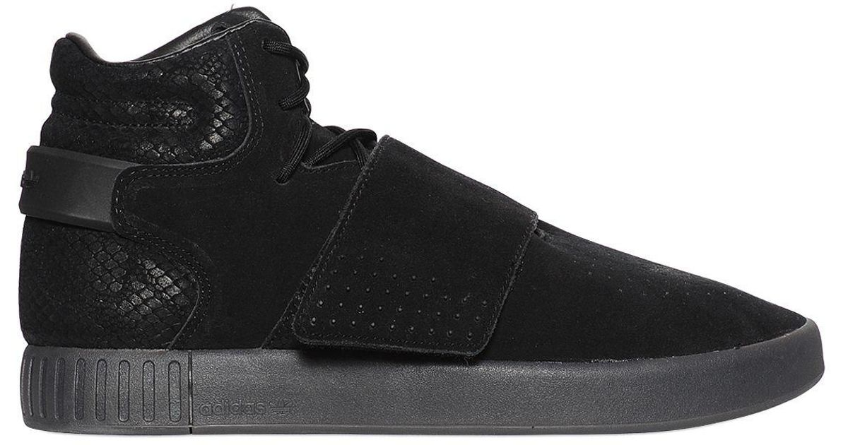 Lyst - adidas Originals Tubular Invader Suede High Top Sneakers in Black  for Men b3f520fc1