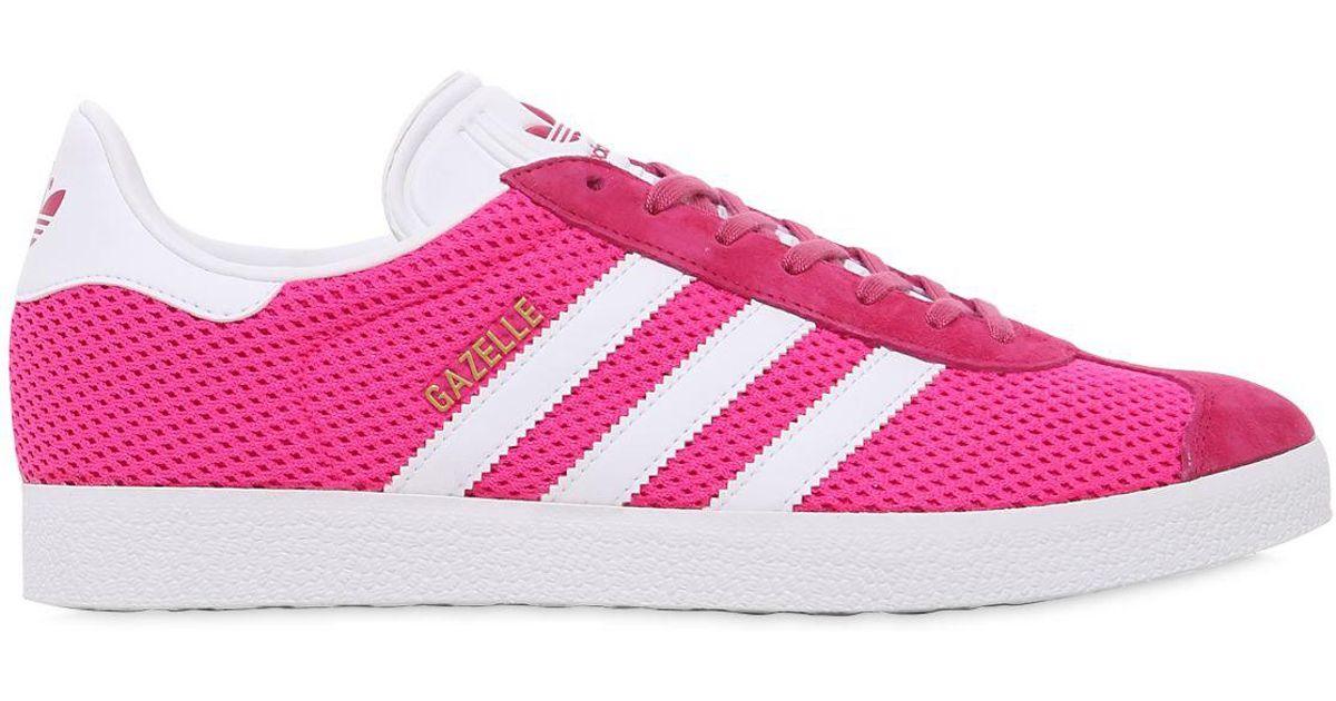 Adidas Originals Gazelle Mesh Sneakers in Pink for Men - Save 28.57142857142857% - Lyst