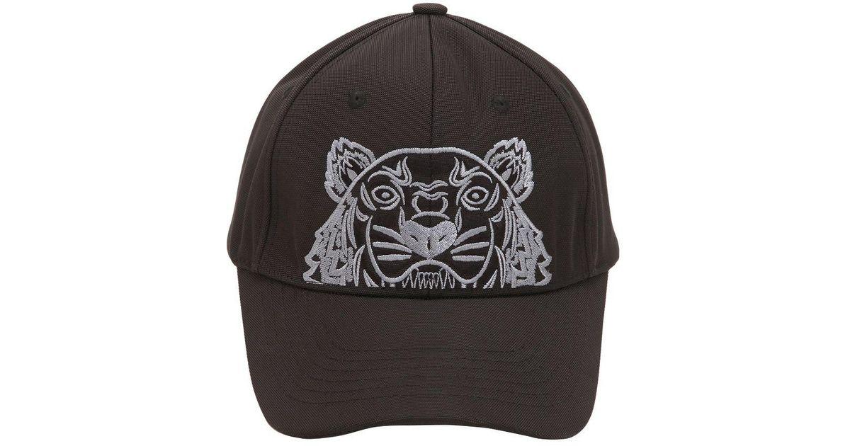7bc23c1a69a KENZO Men s Tiger Canvas Cap Black in Black for Men - Lyst