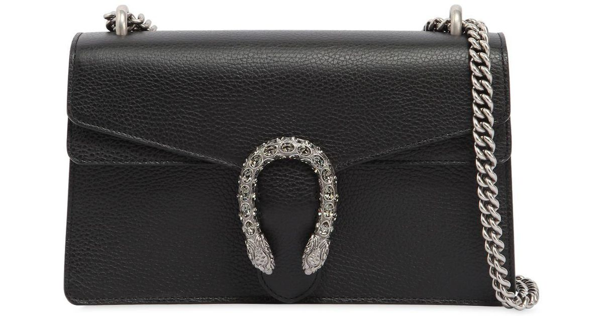 3ba754ef92b Lyst Gucci Small Dionysus Leather Shoulder Bag In Black