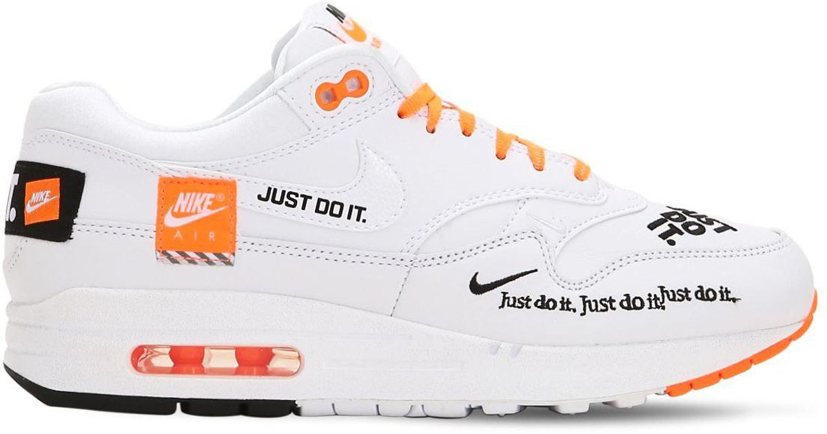 air max 1 just do it homme blanche