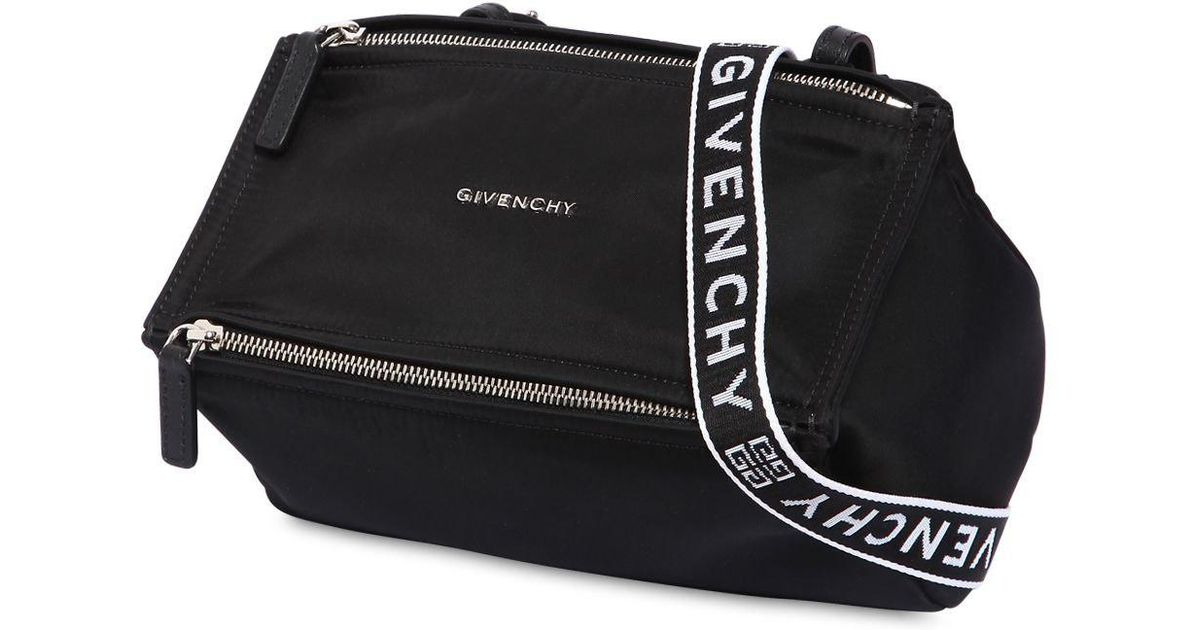 a9a20cb50e Givenchy 4g Pandora Mini Nylon Shoulder Bag in Black - Lyst