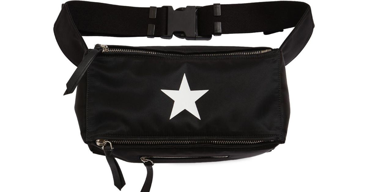 Lyst - Givenchy Pandora Star Printed Nylon Belt Pack in Black for Men 868a3dfae4