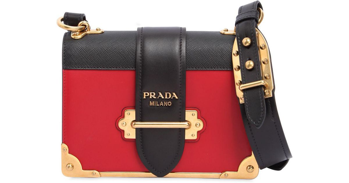 61d98e23783cac Prada Cahier Color Block Leather Shoulder Bag - Lyst