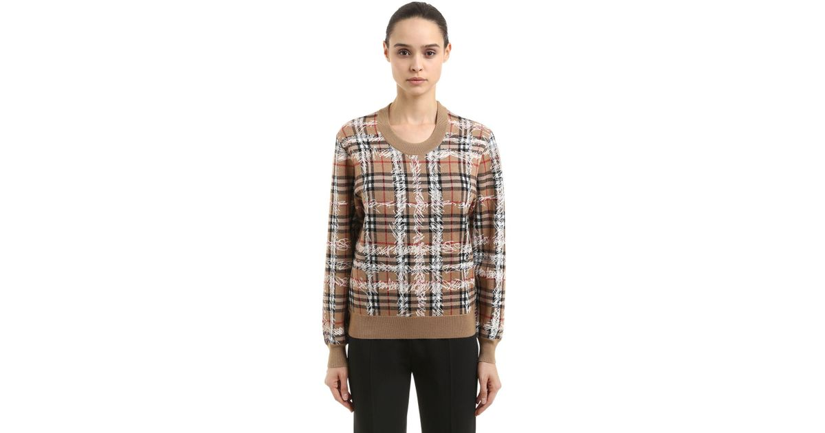 Sketch Lyst Burberry Check Merino Print Sweater Wool U5fqSpW8 c05c37b24c2