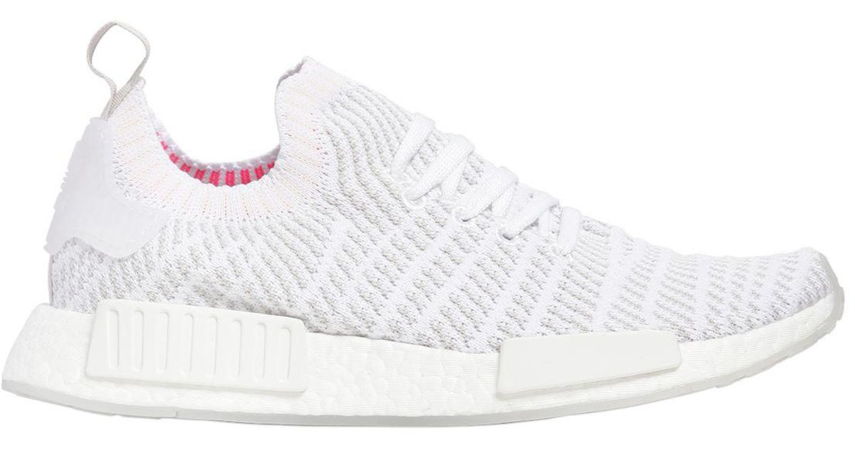 00595f4ca08a4 adidas Originals Nmd R1 Stlt Primeknit Sneakers in White for Men - Lyst
