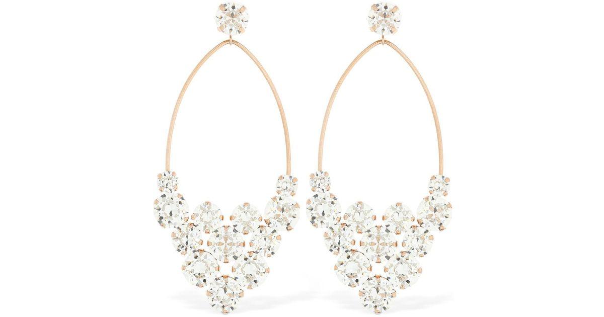 e8ca4fa4210 Lyst - Isabel Marant Chic Crystal Earrings in Metallic