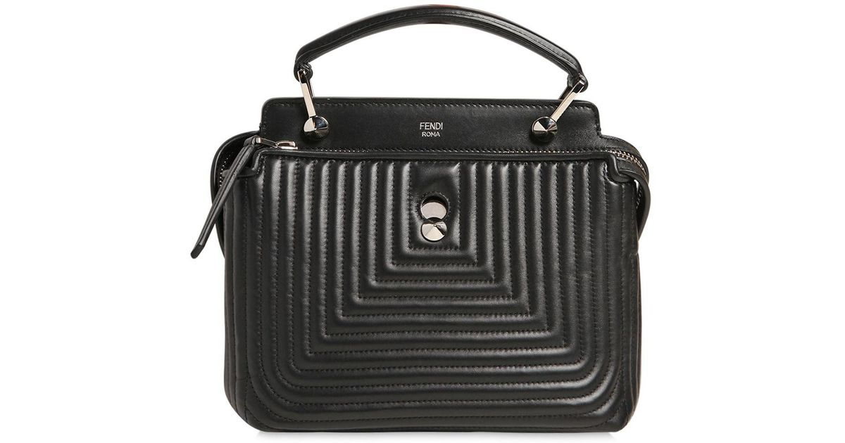 Lyst - Fendi Small Dotcom Quilted Leather Bag in Black : quilted leather bags - Adamdwight.com