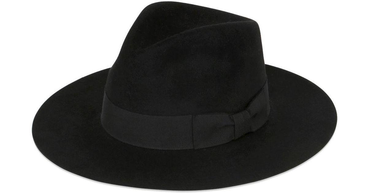 Chapeau Fedora Classique - Noir Saint Laurent E2bQq