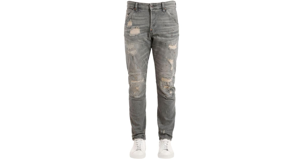 a06dac1d21c G-Star RAW Raw Essentials 5620 3d Tapered Jeans in Gray for Men - Lyst