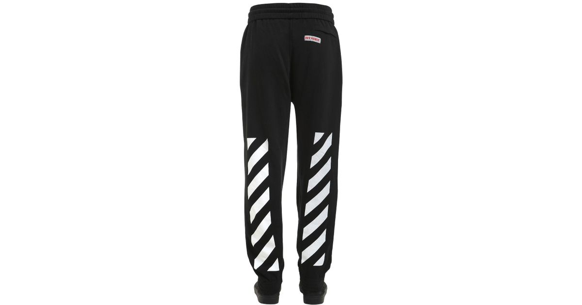 a84851923f26 Lyst - Off-White c o Virgil Abloh Arrows Cotton Sweatpants in Black for Men