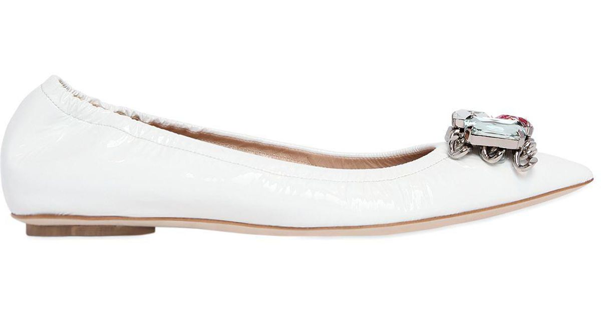 Online Shop Sale Hot Sale Casadei Patent Leather Flats Outlet Really Discount Limited Edition CXxn8