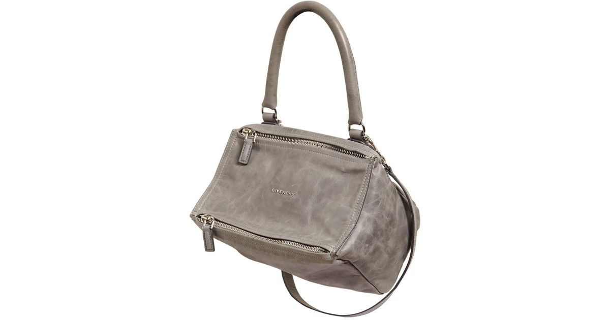 7f0930148b Givenchy Small Pandora Washed Leather Bag in Gray - Save 26.52173913043478%  - Lyst
