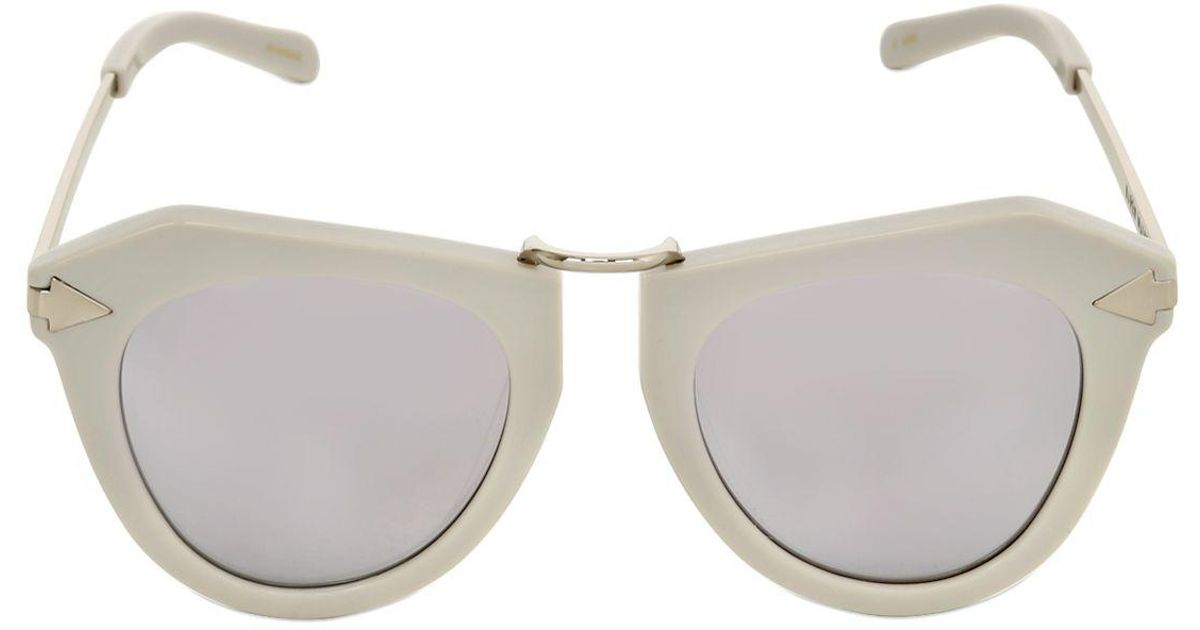 b296fd7c8e Karen Walker One Orbit Geometric Mirror Sunglasses in Gray - Lyst